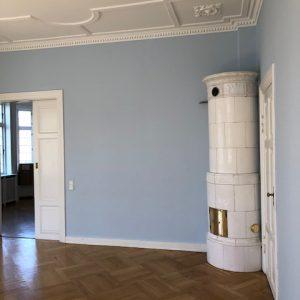 De sidste detaljer på detaljernes hus